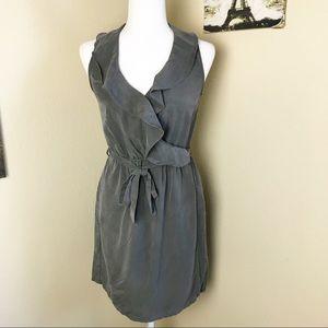 Banana Republic olive green faux wrap dress size 4